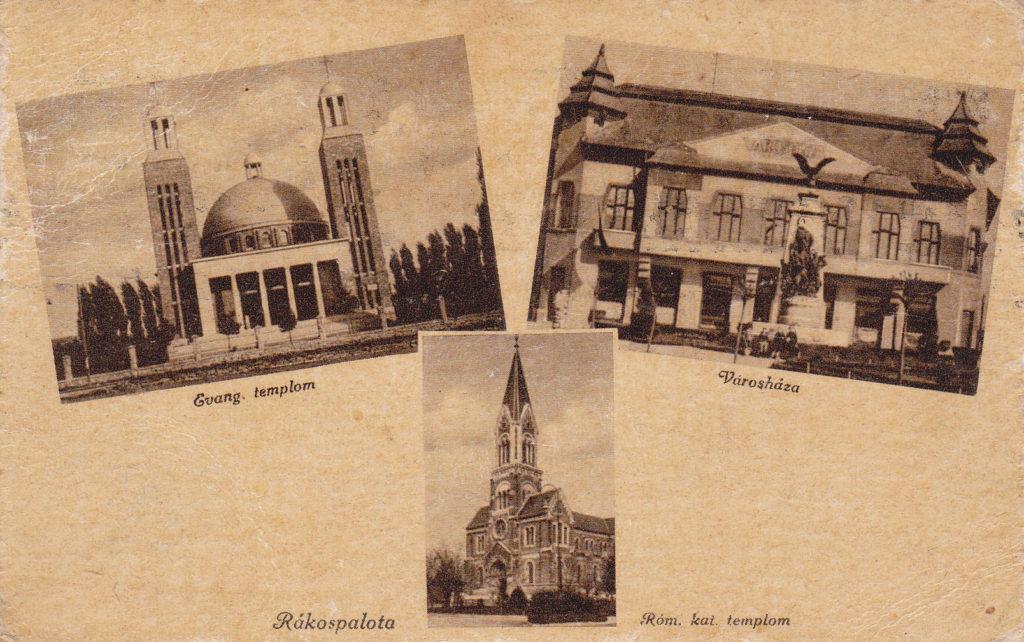 120 - Rákospalota Róm. kath. templom - Evang. templom - Városháza - 1943 - Gárdony és Fenyvesi